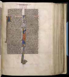 Historiated Initial With Zechariah's Vision, In 'The Bible Of Robert De Bello'